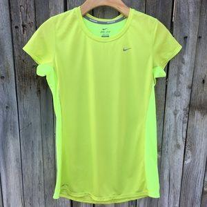 Nike Running Dri-Fit Shirt Neon Green M